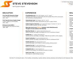Freelance Designer Resume Web Designer Resume 17 Graphic And Web Designer Resume Template