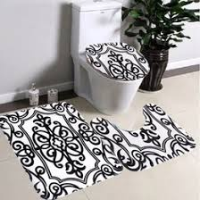 Black And White Bathroom Rugs Discount Black White Bath Rugs 2017 Black White Bath Rugs On