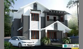 1859 sq ft double floored modern home design veeduonline