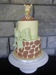 giraffe baby shower cake elephants and giraffes yellow and gray scheme elephant and