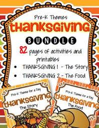 thanksgiving bundle preschool by kidsparkz teachers pay teachers