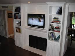 Bookcase Fireplace Designs Flat Screen Tvs Above Fireplaces Fireplace Designs With Tv Above