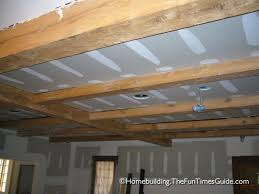 framing a basement ceiling for drywall exposed beam ceiling