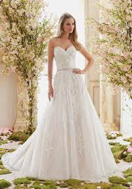 mori bridal tulle on beaded lace appliques wedding dress style 6834 morilee