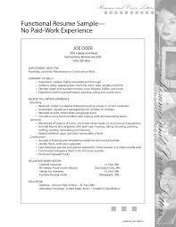 Homemaker Resume Sample by Resume With No Work Experience How To Create A In Write Without