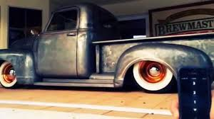 Vintage Ford Truck Steel Wheels - accuair patina ratrod sick baremetal chevy 3100 bagged on accuair