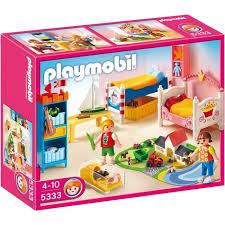playmobil chambre bébé playmobil 5333 chambre des enfants avec lits achat vente univers