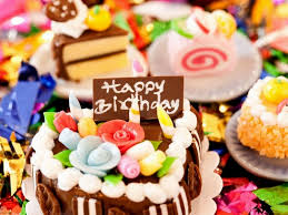 cute happy birthday cake image decorating of party