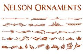 nelson ornaments symbol fonts creative market