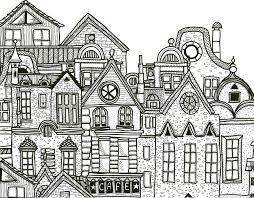 ville détaillée à imprimer et colorier gratuit artherapie ca