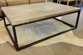 coffee tables simple reclaimed wood and metal coffee table diy