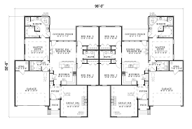 Multi Family House Plans Triplex Ranch Style Duplex Floor Plans Google Search Duplexes And