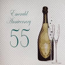 55th wedding anniversary white cotton cards emerald anniversary handmade 55th wedding