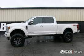 Ford F350 Truck Tires - ford f350 with 22in black rhino thrust wheels exclusively from