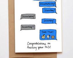 phd congratulations card phd etsy