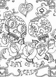dia de los muertos printables free coloring pages on art