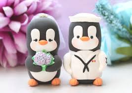 marine cake toppers wedding cake toppers penguin us navy hat unique