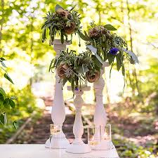 Wedding Candle Holders Centerpieces by Shabby Chic Spindle Candle Holder Set Wonderful Wedding