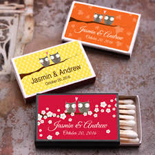 wedding matchboxes owl personalized matchboxes 50 pcs owl wedding and party