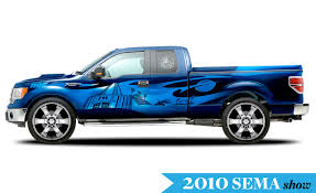 Ford F350 Ramp Truck - seven modified ford f series trucks for sema car and driver blog