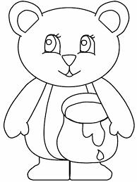 hibernating bear coloring kids coloring