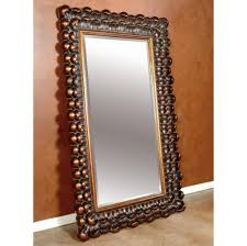 Bevelled Floor Mirror by Home Accessories Elegant Leaner Mirror With Black Frame