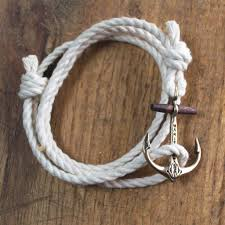anchor bracelet rope images The classic maritime anchor bracelet copper on cotton rope jpg