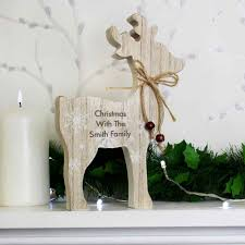 Wooden Deer Christmas Decorations by Rustic Wooden Reindeer Christmas Decoration Wedding Paraphernalia