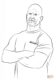 wwe stone cold steve austin coloring page free printable