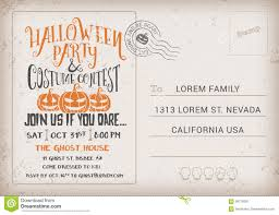 halloween party invitation free halloween party and costume contest invitation template stock