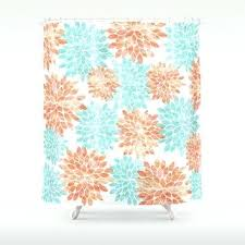 Navy And Coral Shower Curtain Coral And Blue Curtains Shower Curtain In Navy Coral Pink Aqua