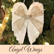 Angel Decoration For Christmas by Sparkling Angel Wings Made From Coffee Filters Hometalk