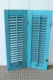 Shabby Chic Shutters by Antique Wood Vintage Louvered Window Shutters Distressed Painted
