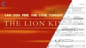 clarinet feel love tonight lion king sheet