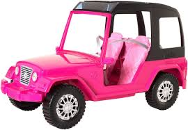 toy jeep car barbie pink passport sisters cruiser toys