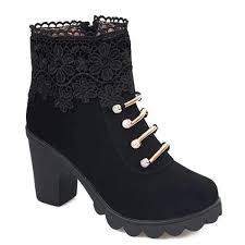 s zipper ankle boots metal zipper embroidery ankle boots in black 40 sammydress com