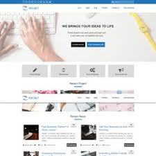 html layout under justwrite free wordpress theme for content writers freebies css css3