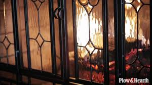 Fireplace Screens Glass Doors by Two Door Fireplace Screen With Glass Floral Panels Sku 10285