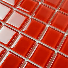 Inexpensive Bathroom Flooring by Square Red Mosaic Art Kitchen Wall Tiles Backsplash Discount