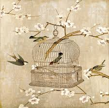 uccelli in gabbia stato animali uccelli in gabbia sta su tela dipinti d arte