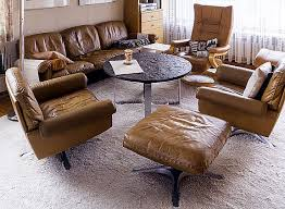 brown leather ottoman seat and sofa designs decor crave