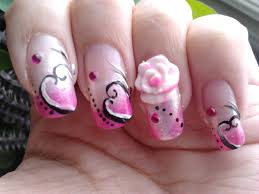 romantic nail art valentines day nails nail art expert