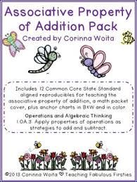 associative property of addition pack by corinna woita tpt