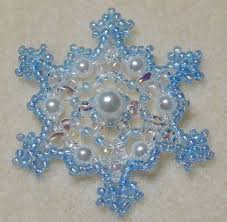 447 best beaded snowflakes images on beaded snowflake