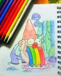 gnome barfing rainbows by kadieja2 on deviantart