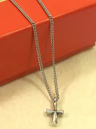 avery crosses avery st teresa cross pendant curb chain necklace 16