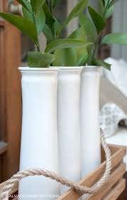 White Glass Vases Best Spray Paint For Glass Salvaged Inspirations