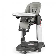 chaise peg perego perego chaise haute tata rayure grise