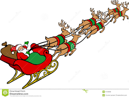 clipart santa and reindeer clipart collection christmas