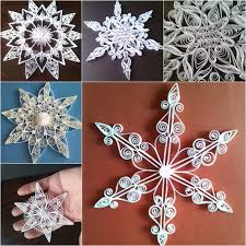 wonderful diy shiny quilled snowflake quilling ornament and